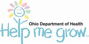 Logo with flower and Help Me Grow underneath Ohio Department of Health